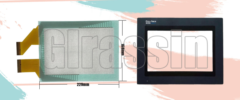 Touch Screen and Overlay for Proface HMI GP47J-EG11 Replacement