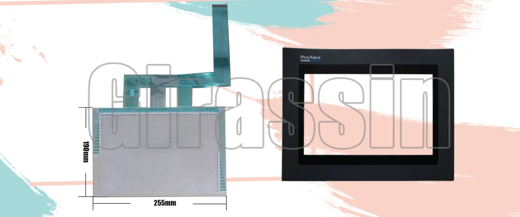 Touch Screen and Overlay for Proface GP570-SC31/TC31-24V Replacement