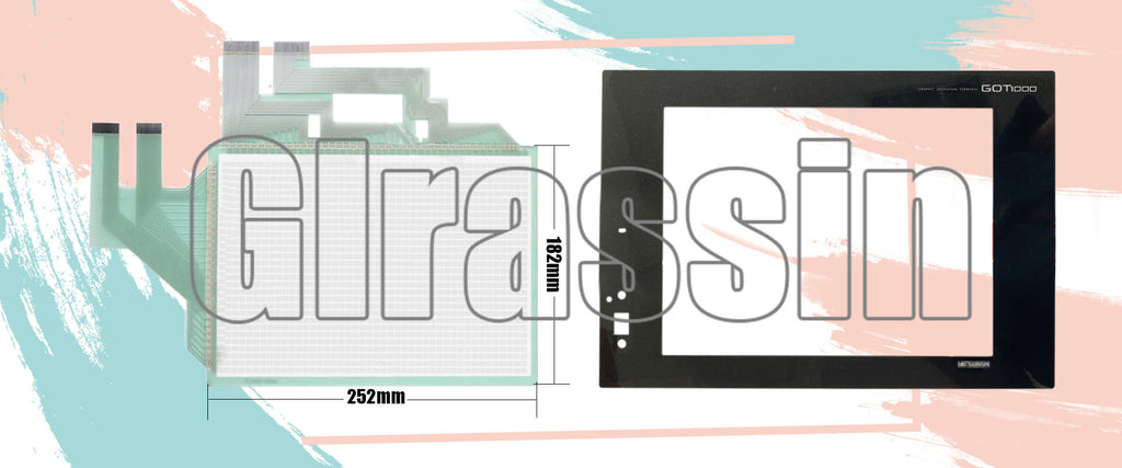 Touch Screen and Overlay for Mitsubishi GT1575 HMI Replacement