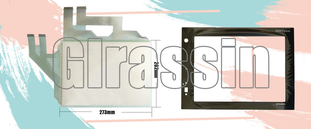 Touch Screen and Overlay for Mitsubishi GT1585 HMI Replacement