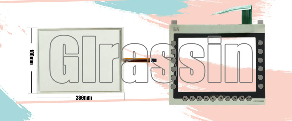 Touch Screen and Membrane Keypad for B&R Power Panel PP480 rE Replacement
