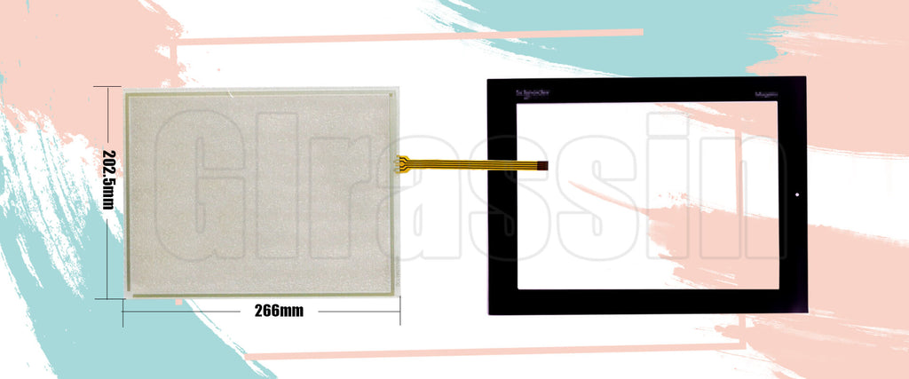 Touch Screen and Overlay 12.1 INCH for Schneider Electric HMI XBTGT6330 Repair Replacement