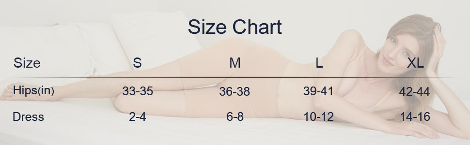 sizing guide of women's dress shorts