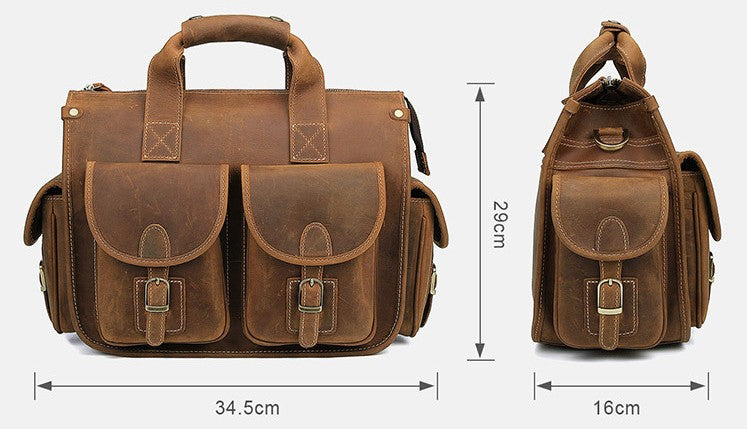 13 inch leather laptop bag for women