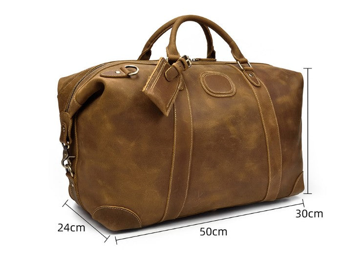 leather weekender bag for travel lugggage