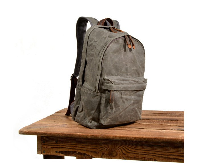 mens waxed canvas backpack bags