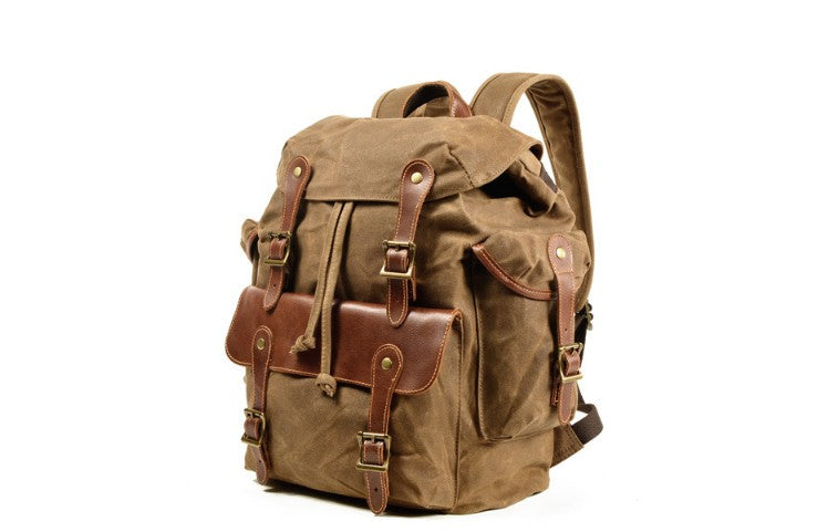 large canvas backpack purse