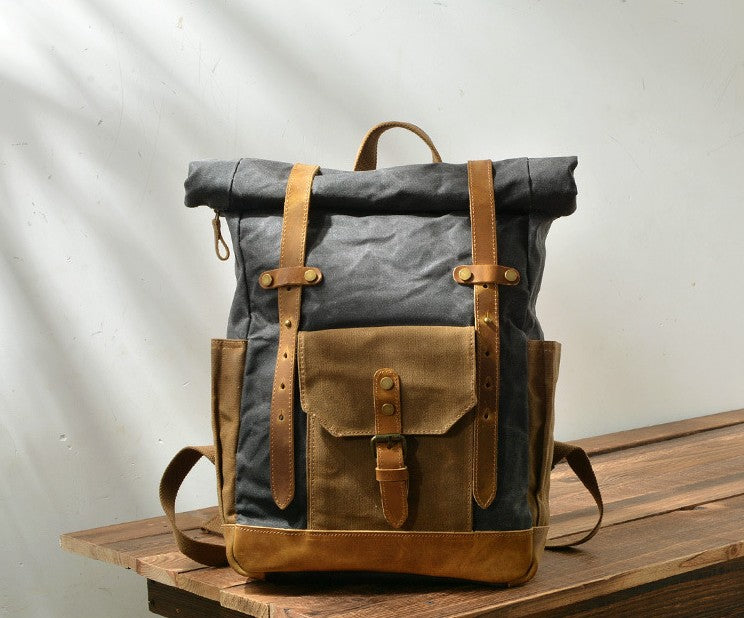 mens canvas backpack purse
