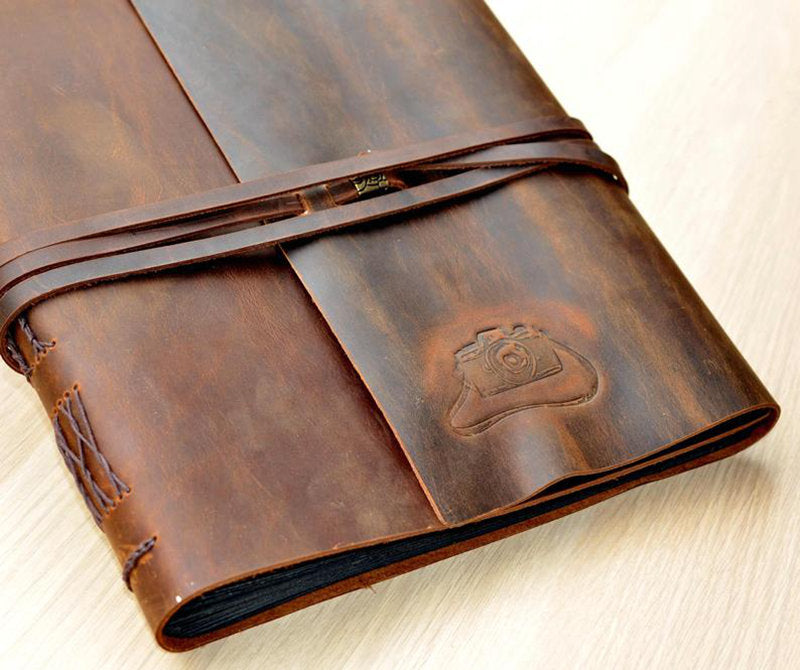 Leather Custom Guest Book