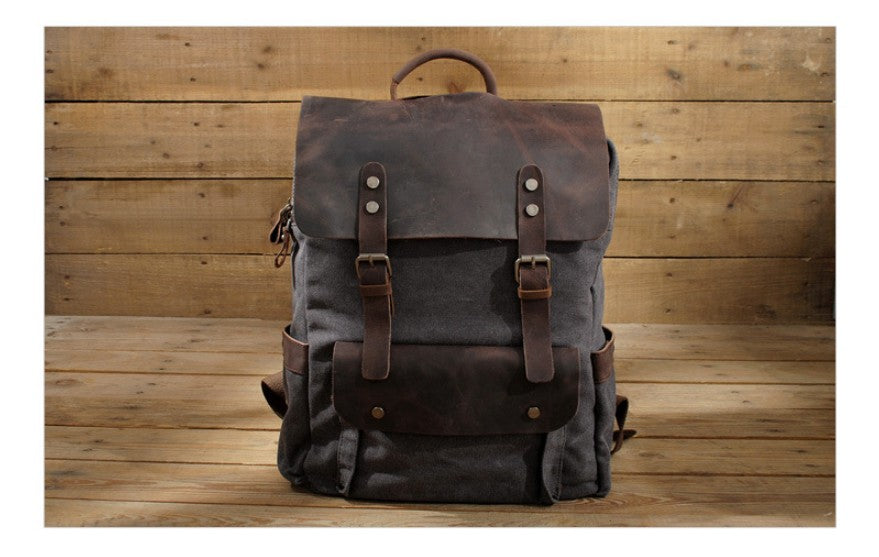 canvas laptop backpack for men and women