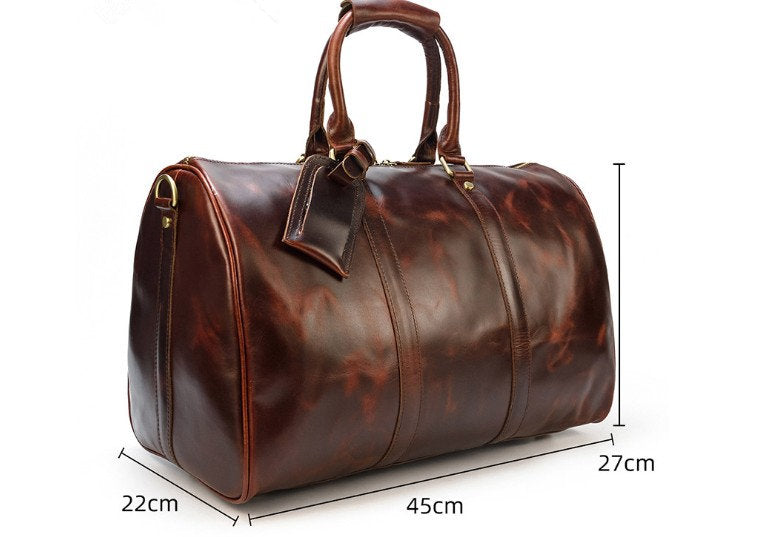 luxury leather luggage weekend bags duffel for travel