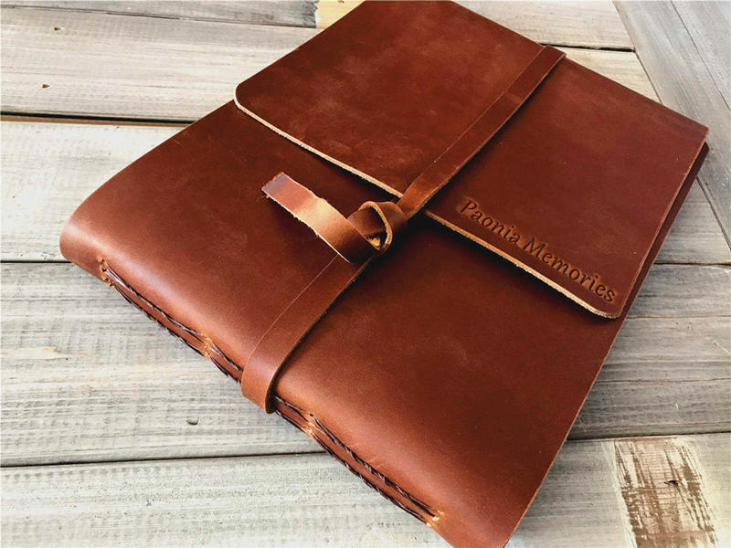 Leather Memory Man Book