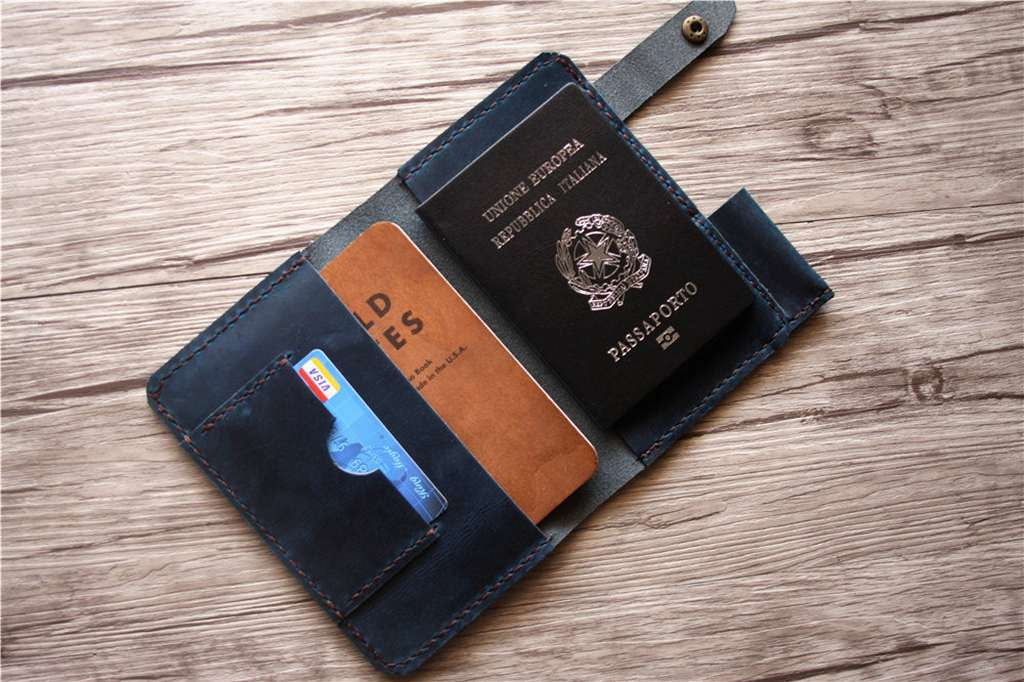 Leather Passport Wallet Cover