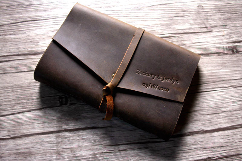 Leather Funeral Memory Book
