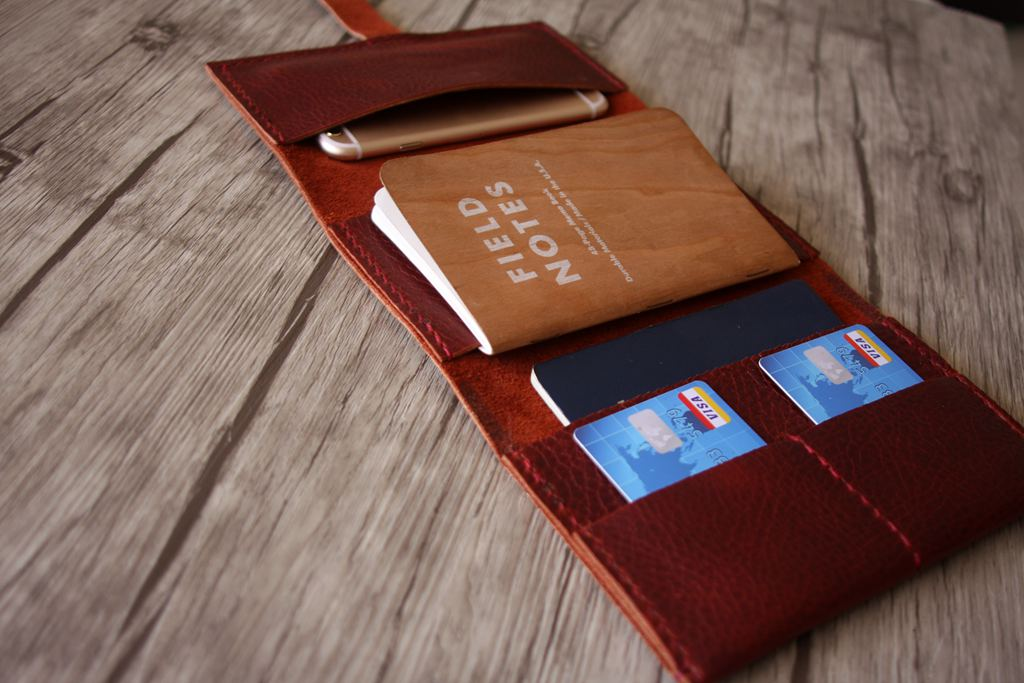 Leather Passport Cover Case