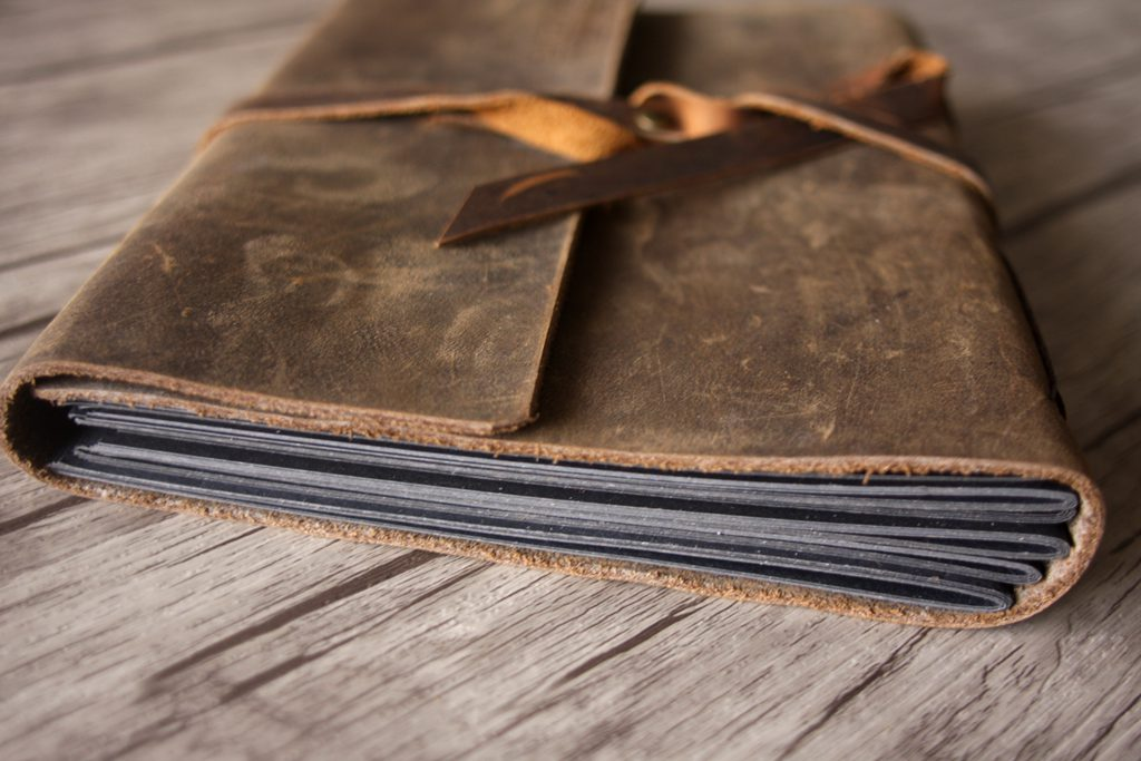 Leather Picture Wedding Guest Book