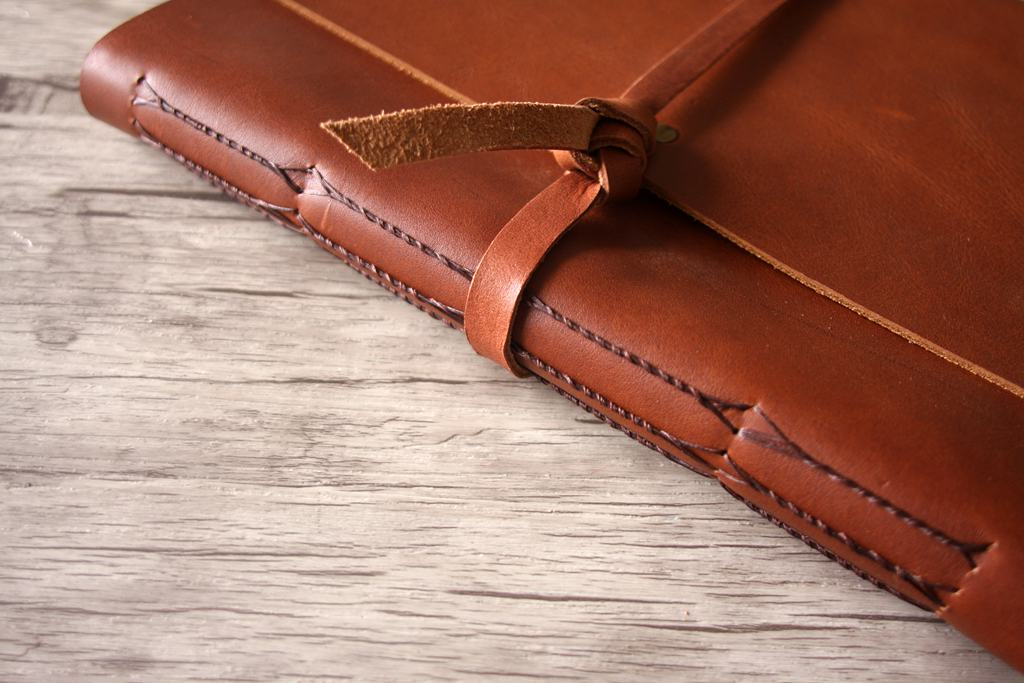 Leather Birthday Party Guest Book