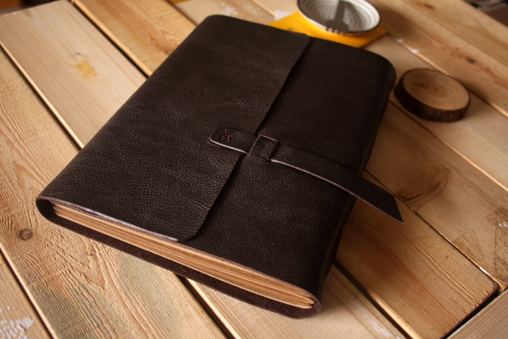 Leather Blank Guest Book Album
