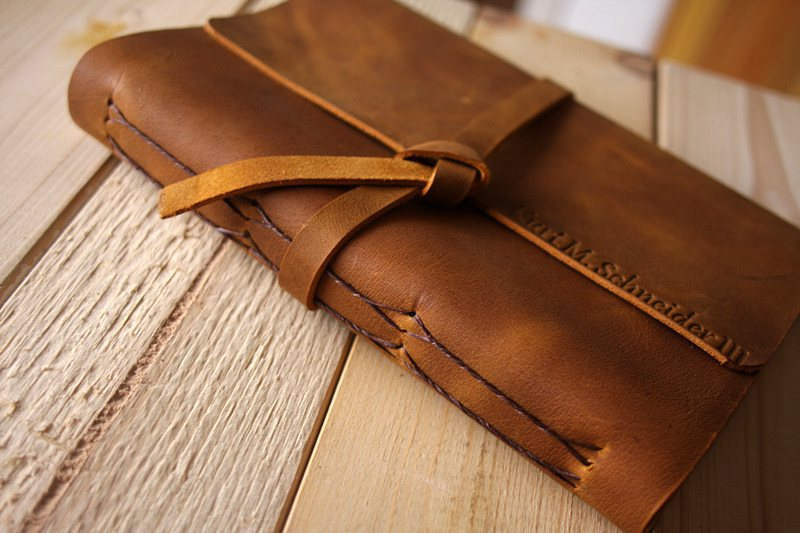 Leather Photo Booth Guest Book