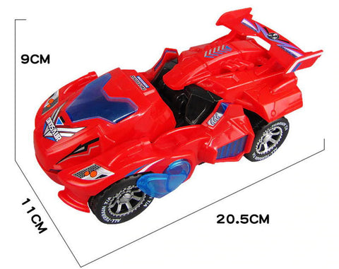 Red Transforming Dinosaur LED Car Size