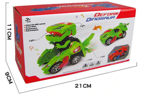 Kids Gift Box - Transforming Dinosaur LED Car