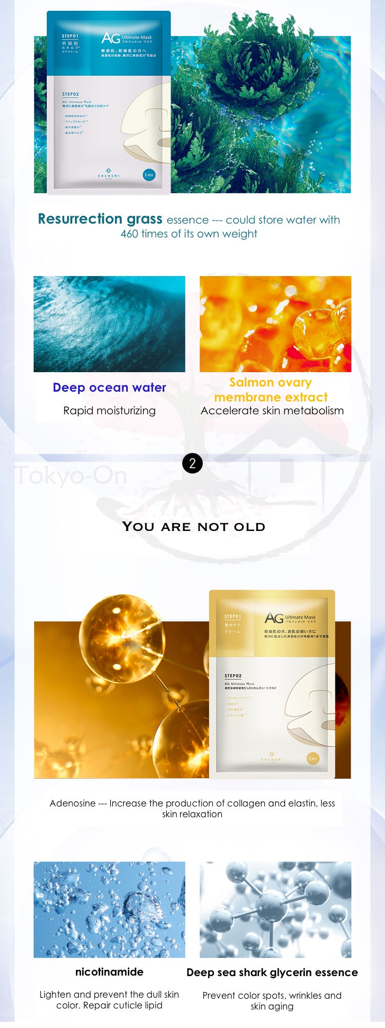 Tokyo-On Cocochi Cosme AG Ultimate Ocean Mask 5 Sheets