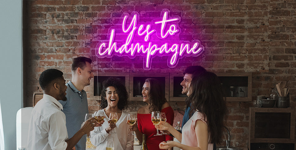 Yes to Champagne Bar Sign