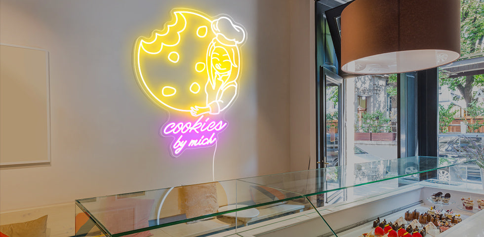 Cookies shop neon signs