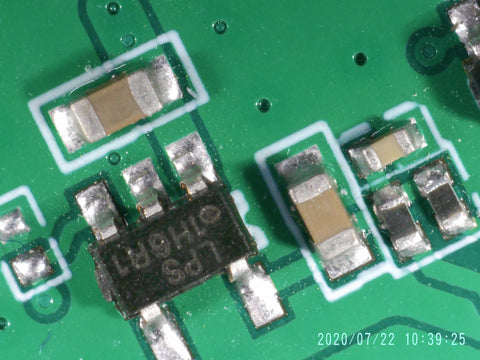 PCB - components by andonstar digital microscope
