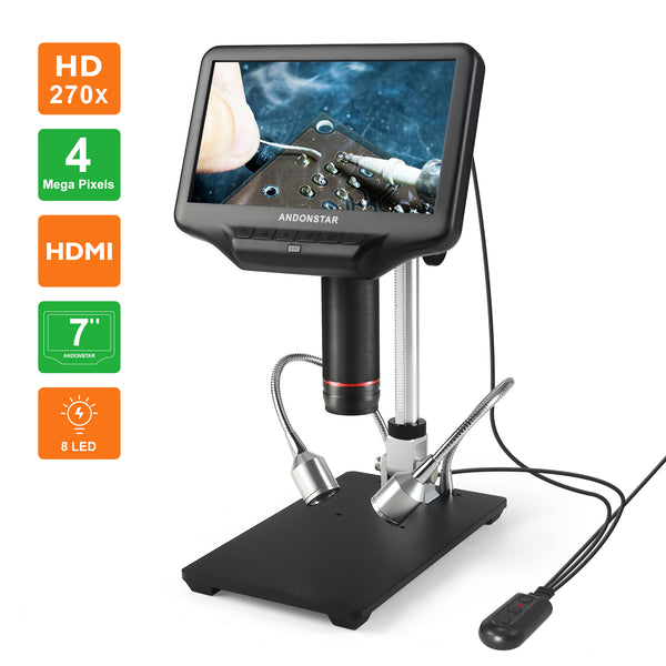 Andonstar AD407 3D HD Digital Microscope 7-inch LCD Screen Microscope for SMT/SMD Soldering Phone Repair
