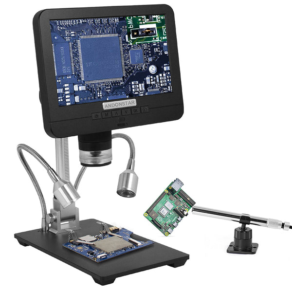 Andonstar AD206S HD Dual Lens Digital Microscope with Monitor and Endoscope