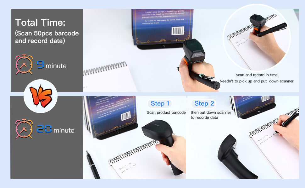 EYOYO EY-016 2D Ring bluetooth barcode scanner QR code reader.3