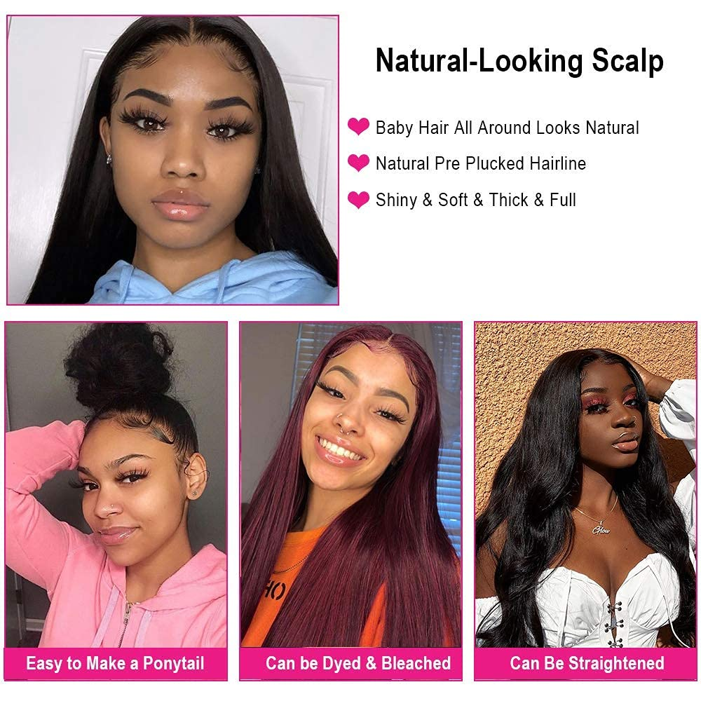 straight 4x4 lace wig