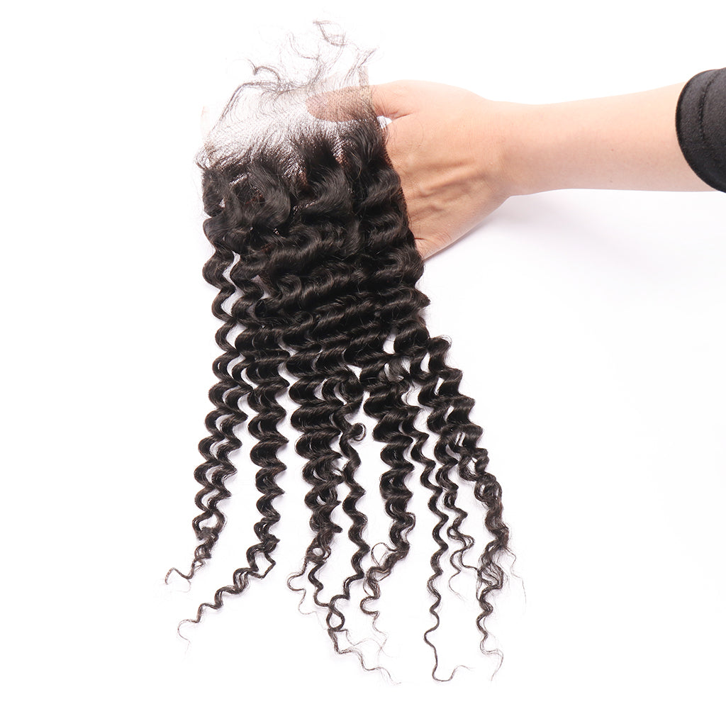 Free Part Deep Curly Human Hair Accessories