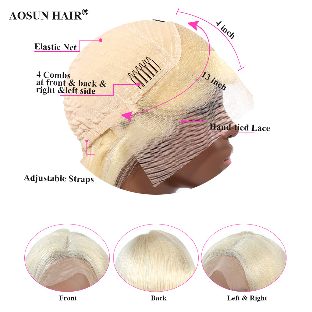 13x4 front lace wig blonde