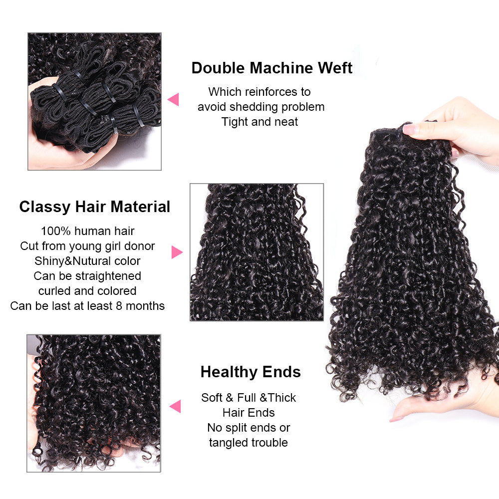 Fumi Kinky Curly Weft Extensions Weaves