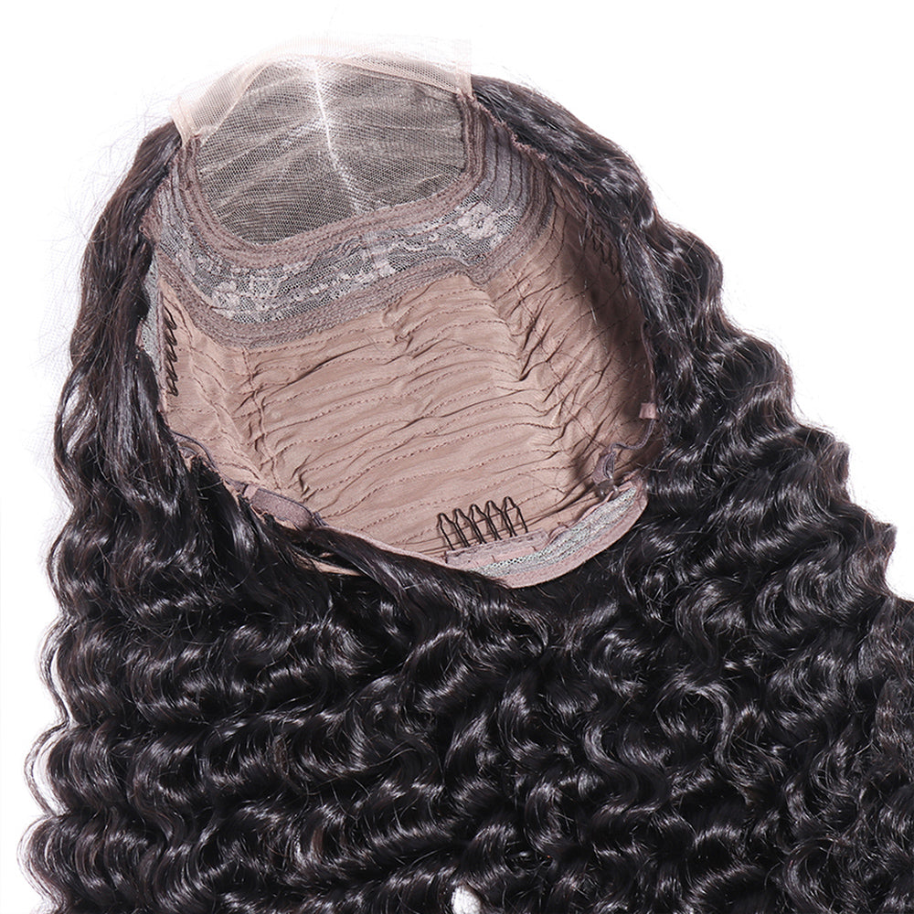 4x4 deep wave lace wig for black women