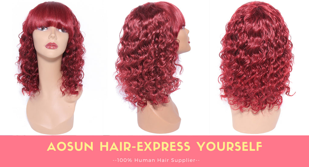deep wave none lace wig