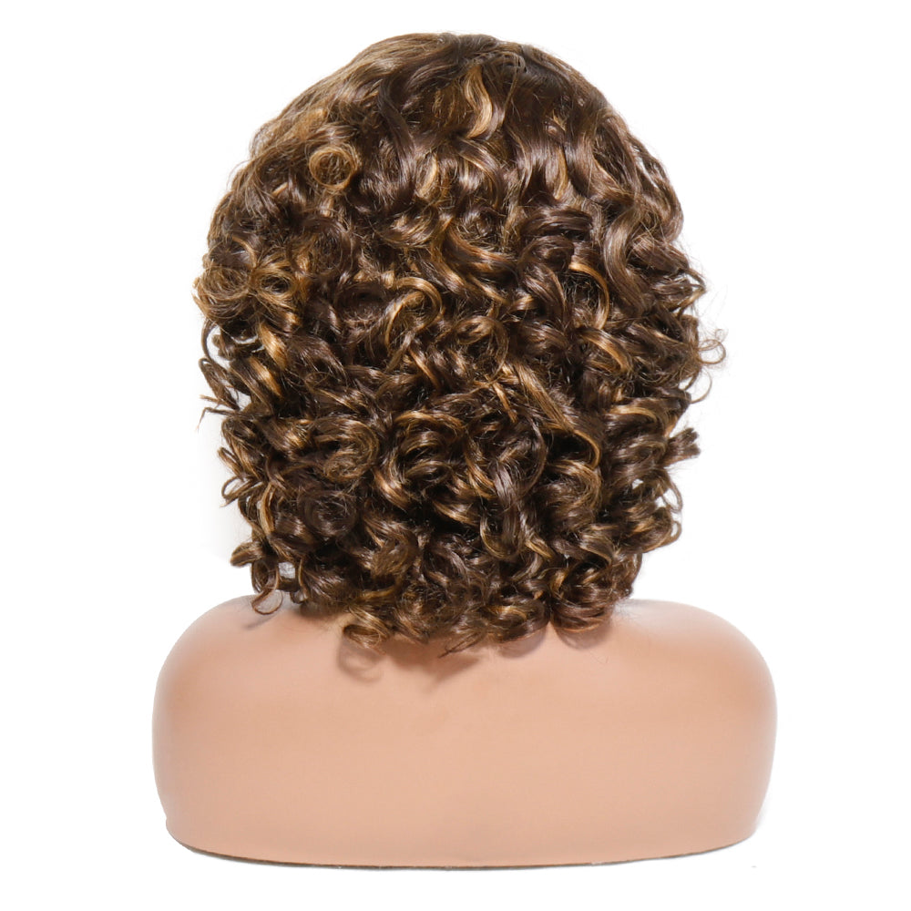 bouncy curly 13x1 lace wig