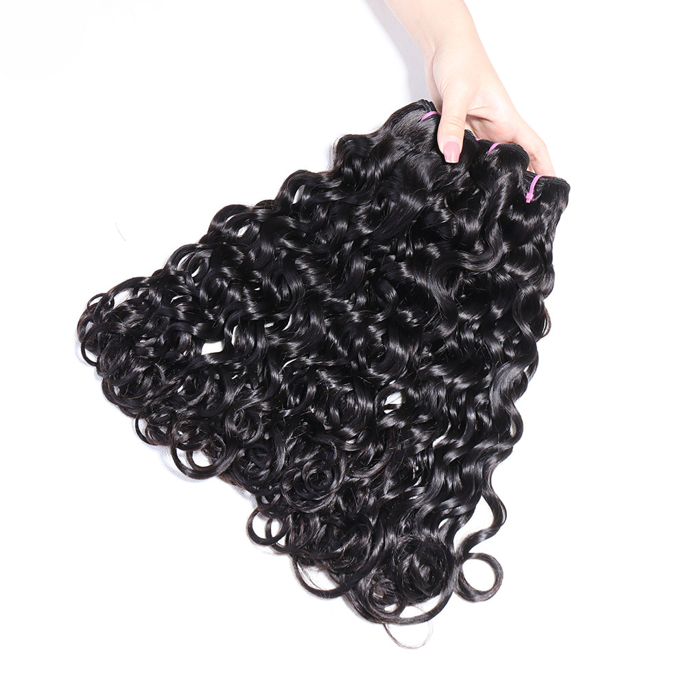 Double Drawn Natural Black Color Hair Extension