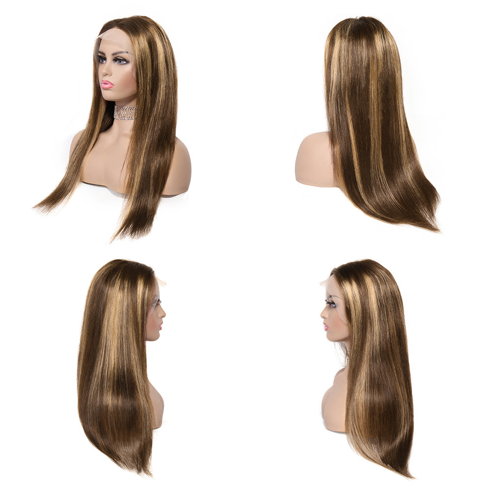 13x4x2 t part lace wig straight