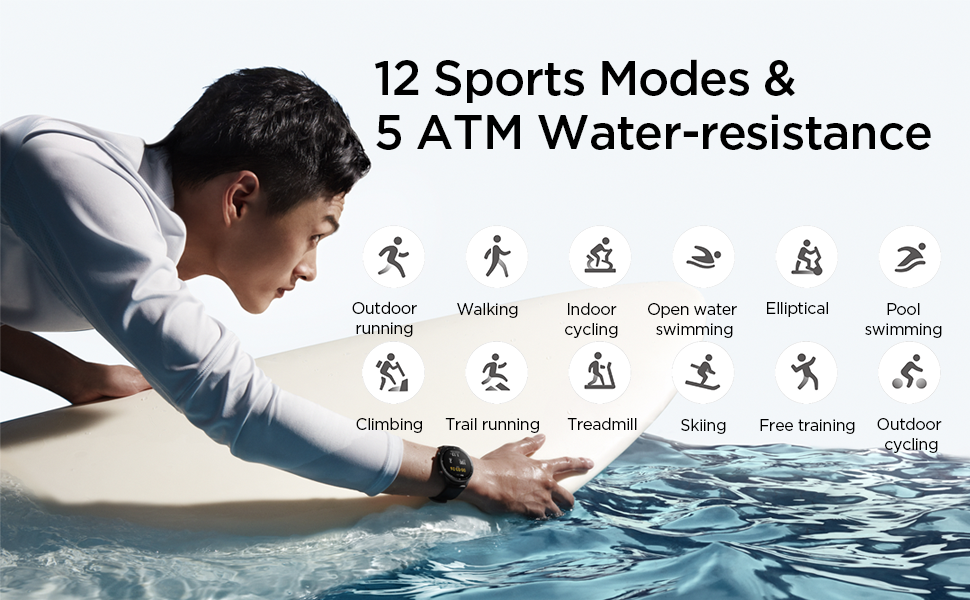 The Amazfit GTR 2 includes 12 different sports modes