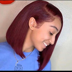 red human hair wigs