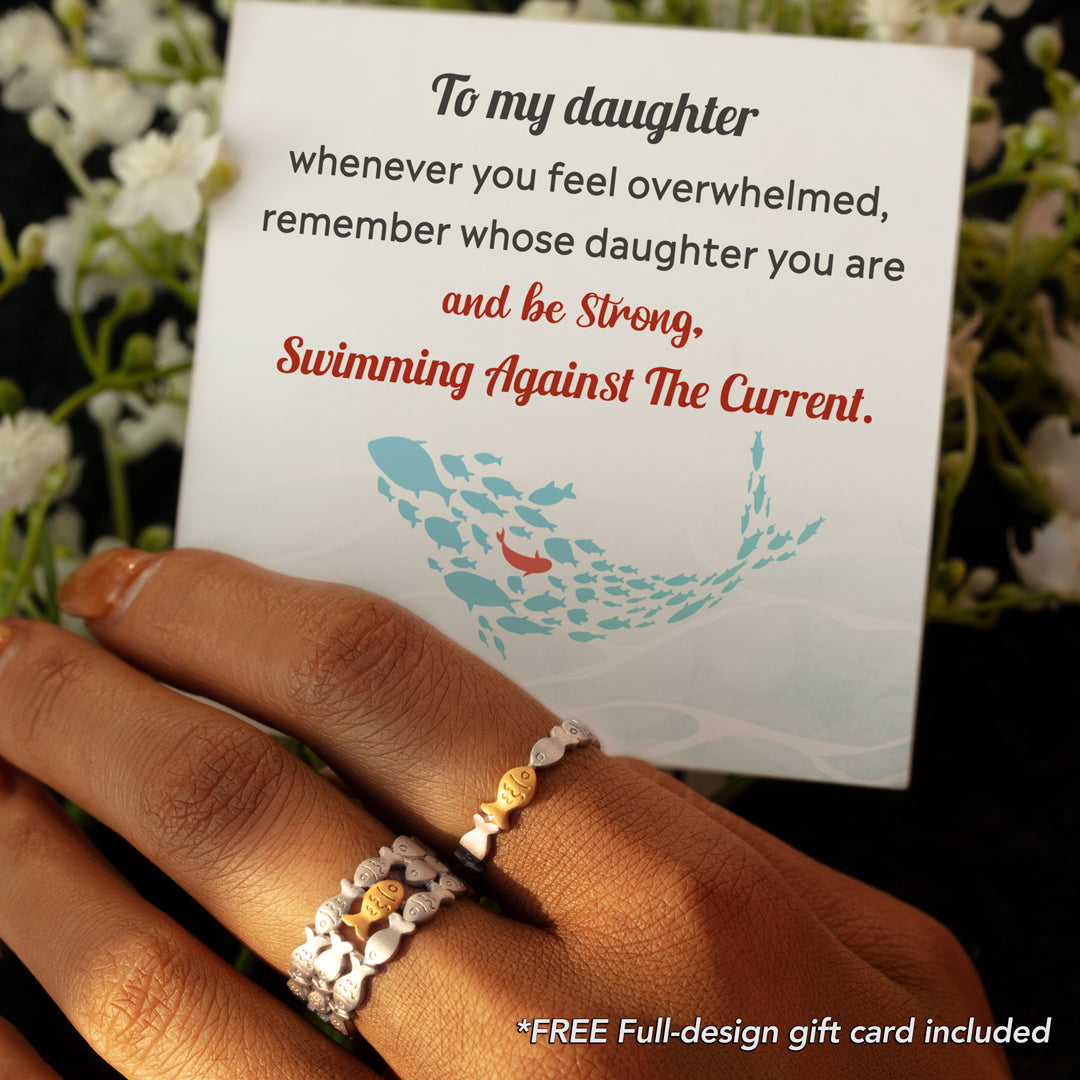 Fish Ring - Be Strong and Swimming Against The Current