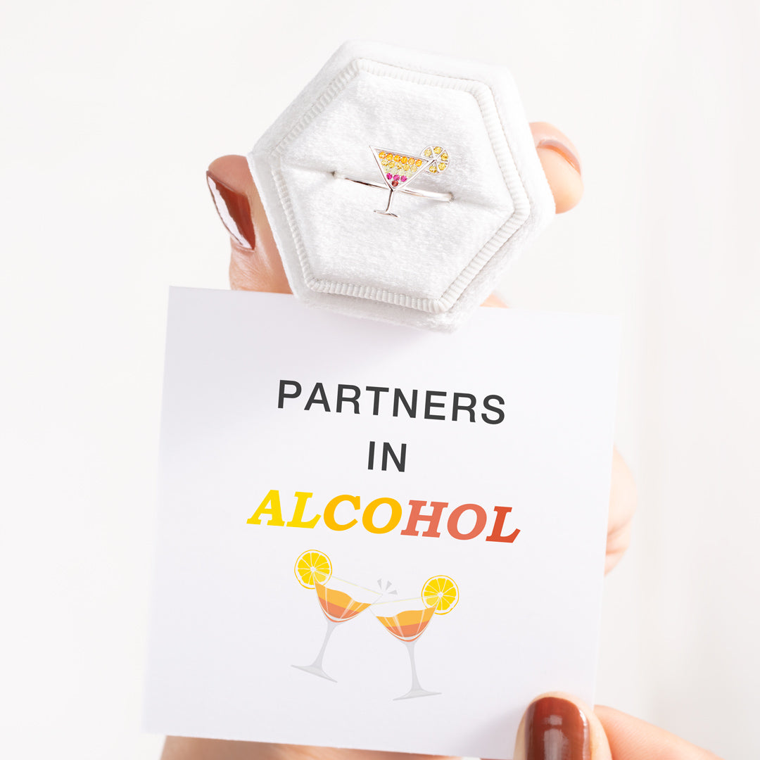 Cocktail Cup Ring-Partners In Alcohol