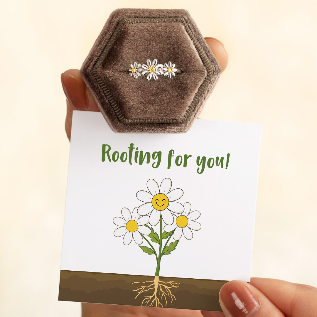 Three Flower Ring - Rooting For You