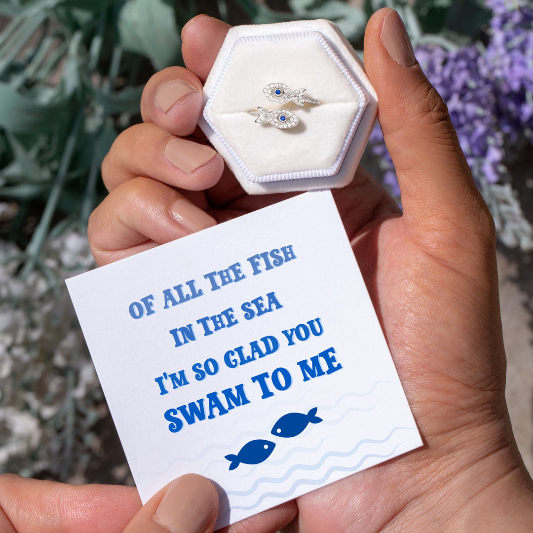 Fish Ring-So Glad You Swam To Me