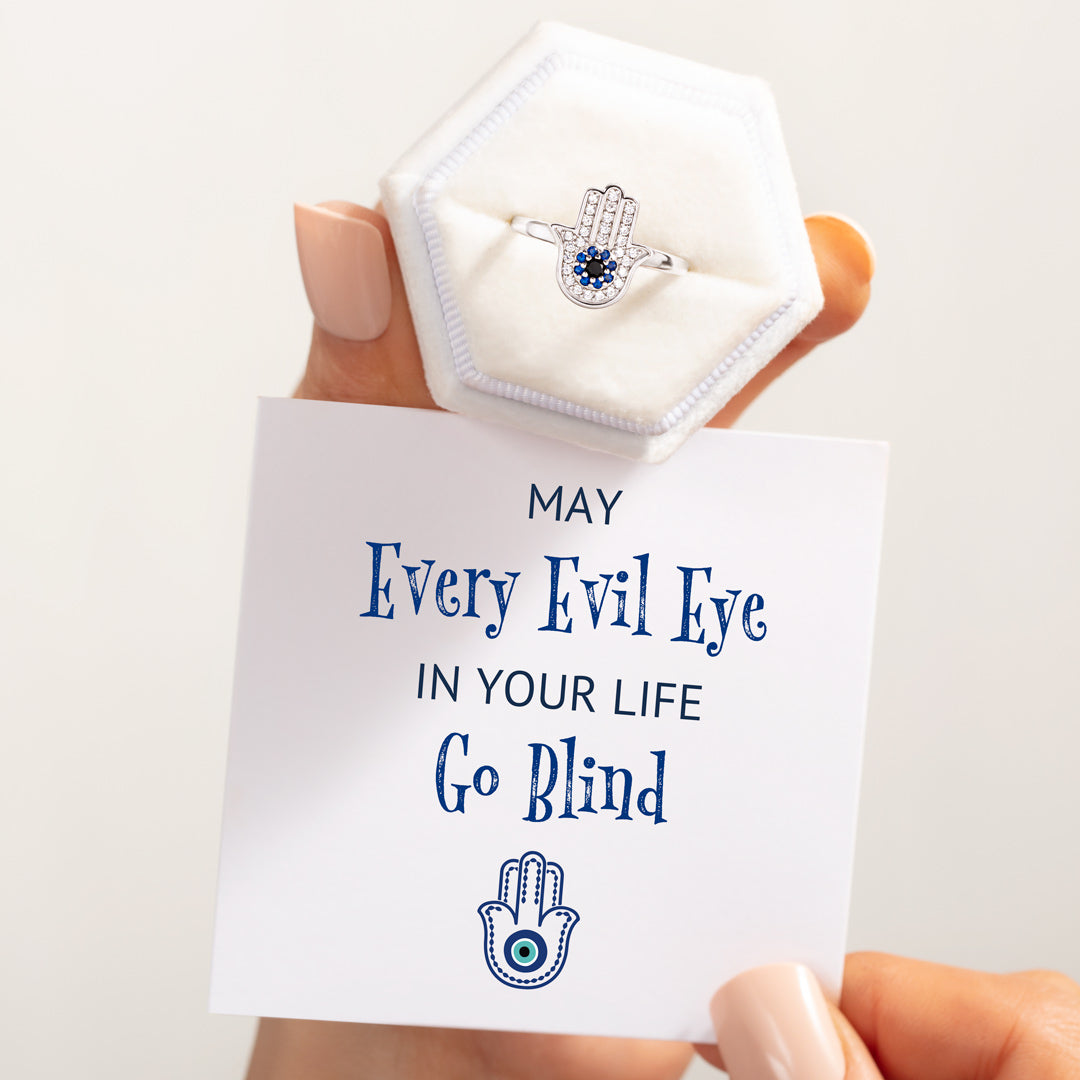 Hamsa Ring-May Every Evil Eye In Your Life Go Blind