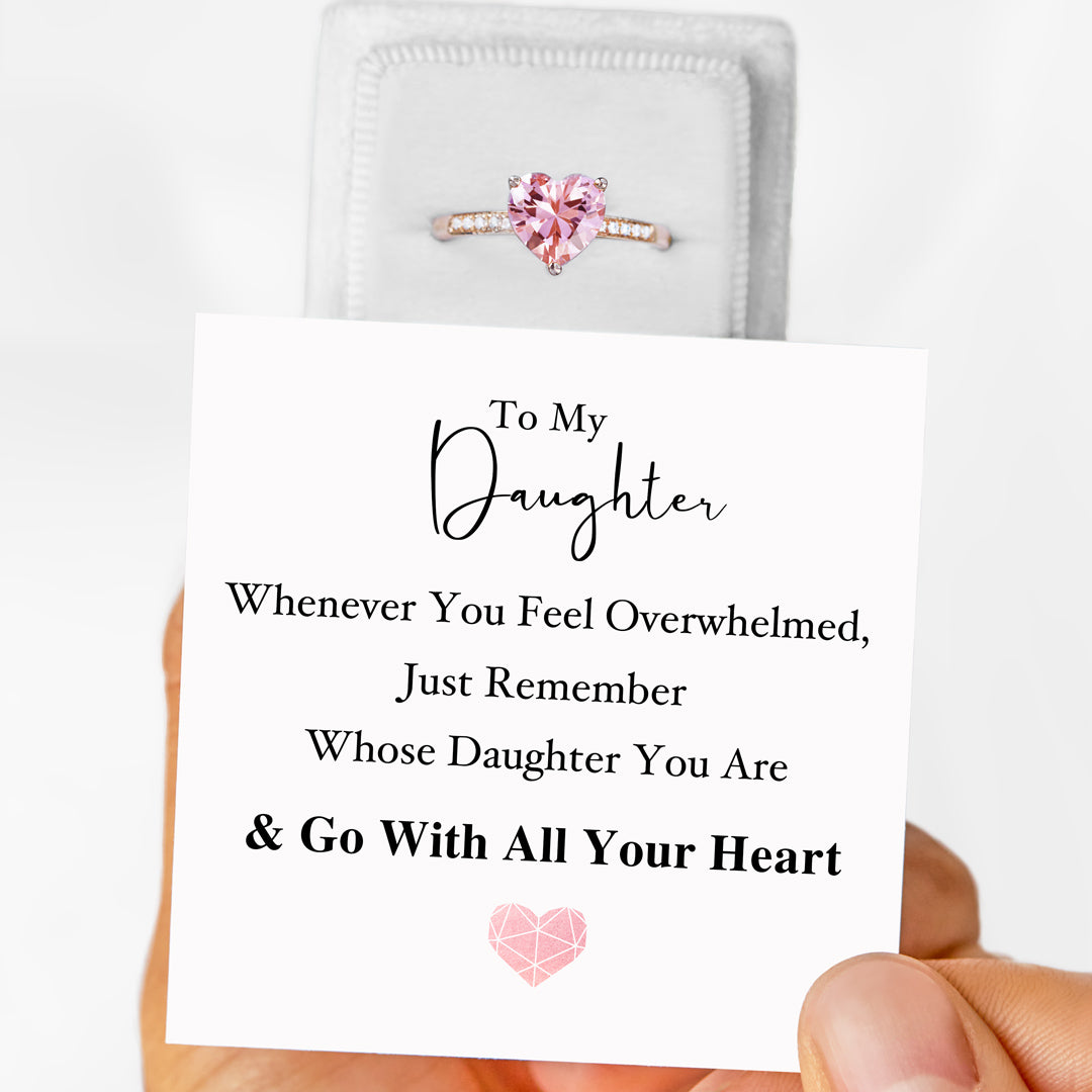 Solitaire Ring - Go With All Your Heart