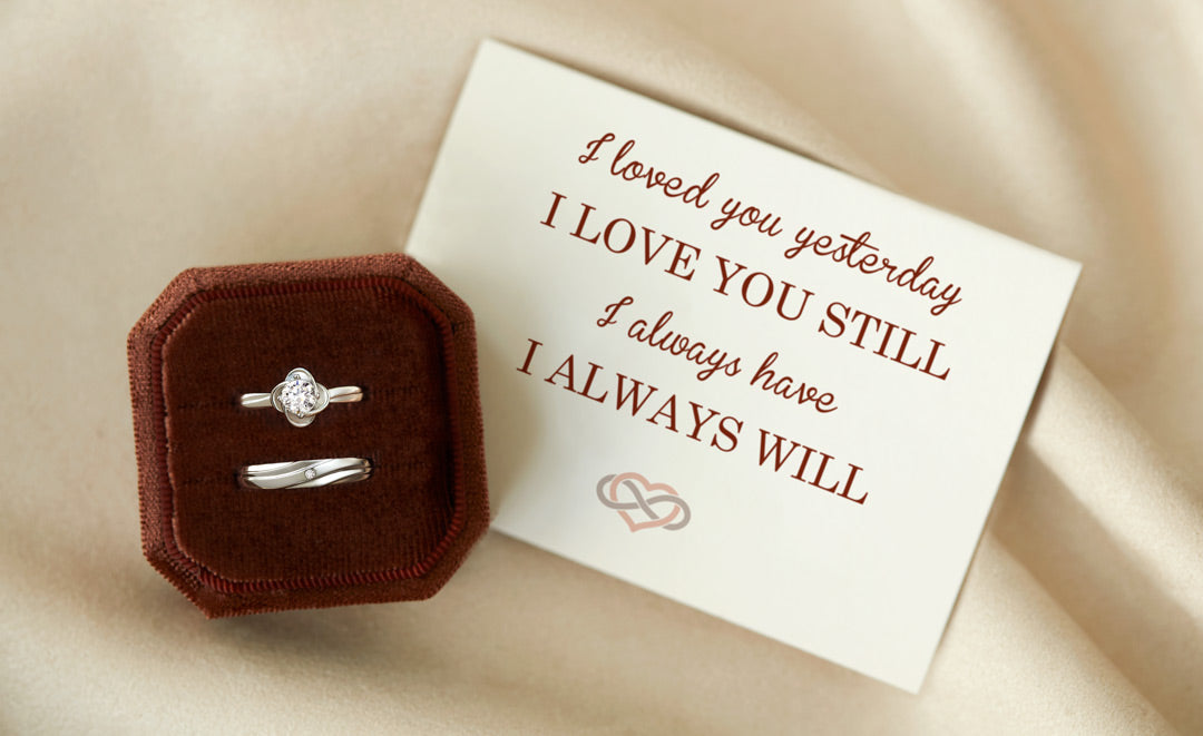 Couple Ring Set-I love You Infinity Knot